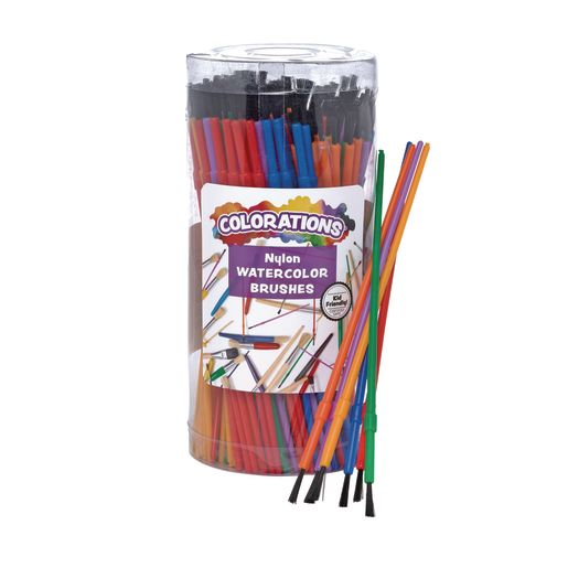 Colorations® Watercolor Paint Brush Classroom Pack - 144 Pieces