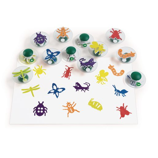 Colorations® Easy-Grip Stampers, Bug Story - Set of 12