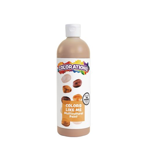 Image of Colorations Colors Like Me Multicultural Paint, Chocolate - 16 oz.