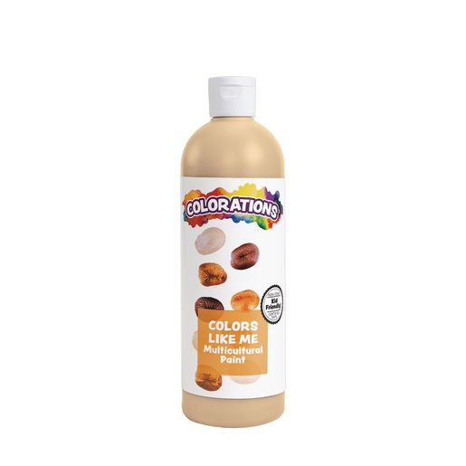Image of Colorations Colors Like Me Multicultural Paint, Cinnamon - 16 oz.