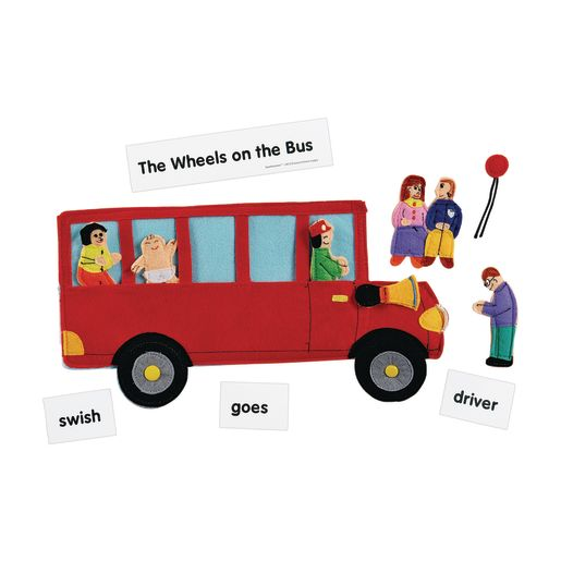 Image of Excellerations Wheels on the Bus Felt Story Pieces
