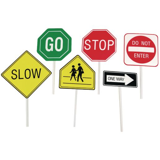 Image of Play It Safe Hand-Held Traffic Signs
