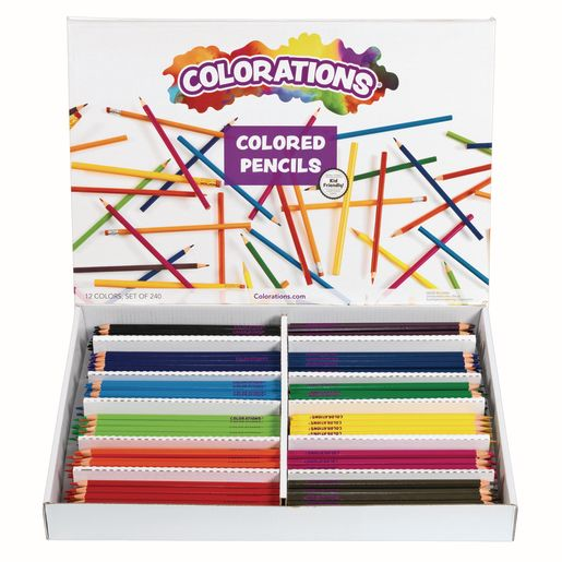 Image of Colorations Regular Colored Pencils - Set of 240