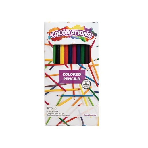 Colorations® Colored Pencils, 12 Colors, Set of 12 Pencils_0