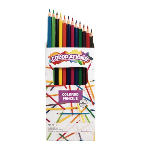 Colorations® Colored Pencils, 12 Colors, Set of 12 Pencils_1