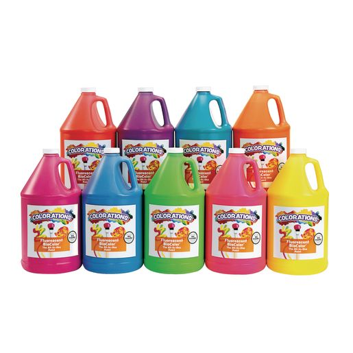 Image of BioColor Paint, Fluorescent, 1 Gallon - Set of 9