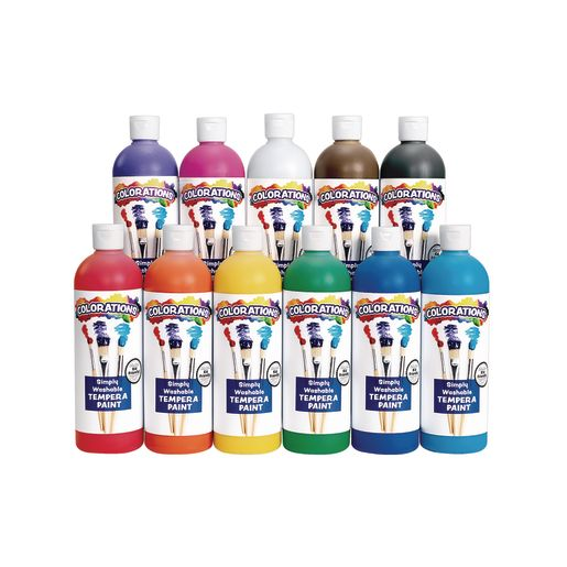 Colorations® Simply Washable Tempera Paint Set of 11 Colors