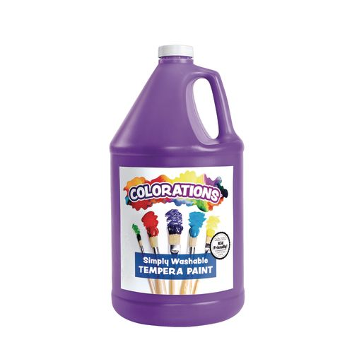 Colorations® Simply Washable Tempera Paint - Gallon, Set of 12 Colors