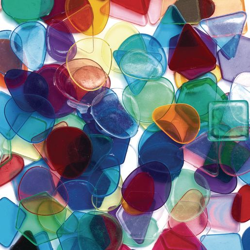 Image of Colorations Large Translucent Mosaic Craft Tiles - 1 lb.