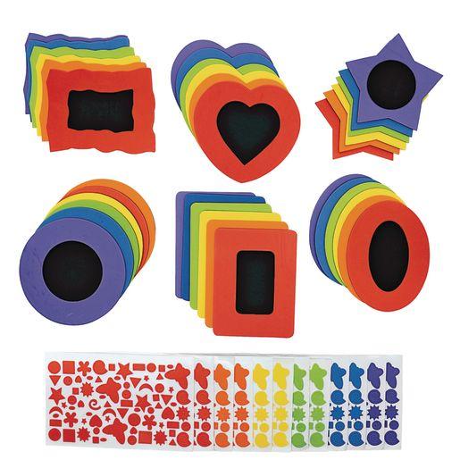 Image of Colorations No-Glue Fun Foam Frames - Set of 36