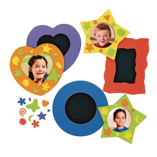 Colorations® No-Glue Fun Foam Frames - Set of 36