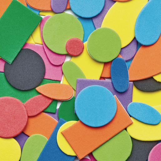 Image of Colorations Self-Adhesive Foam Shapes - Set of 1,000