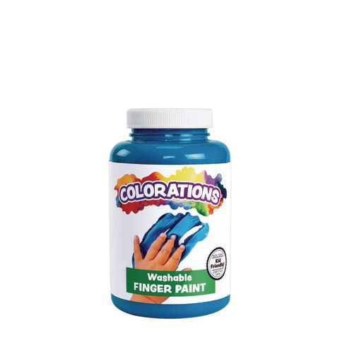 Image of Colorations Washable Finger Paint, Turquoise - 16 oz.