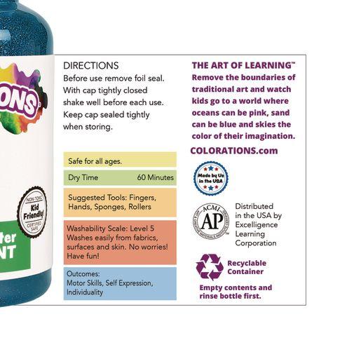 Colorations® Washable Glitter Finger Paint, Violet - 16 oz.