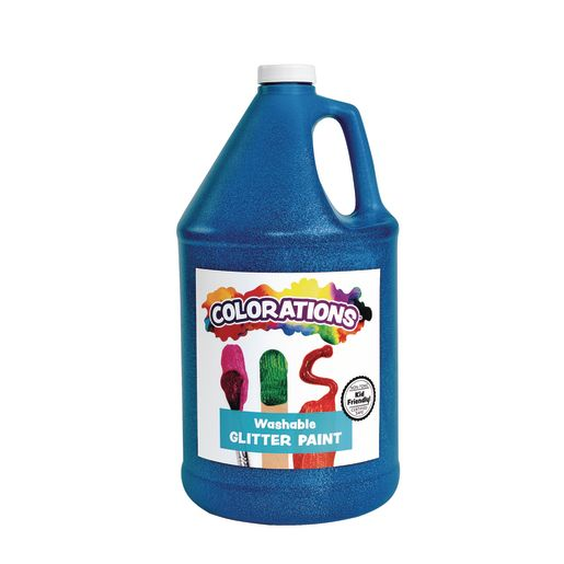 Colorations® Washable Glitter Paint, Blue - 1 Gallon