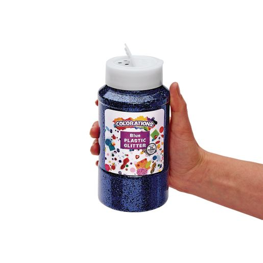 Colorations® Extra-Safe Plastic Glitter, Blue - 3 lbs.