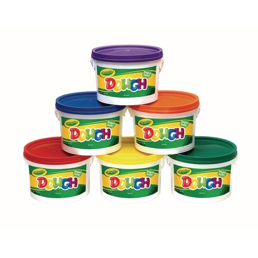 Crayola® Assorted Colored Dough, 3 lbs. Each - Set of All 6 Tubs