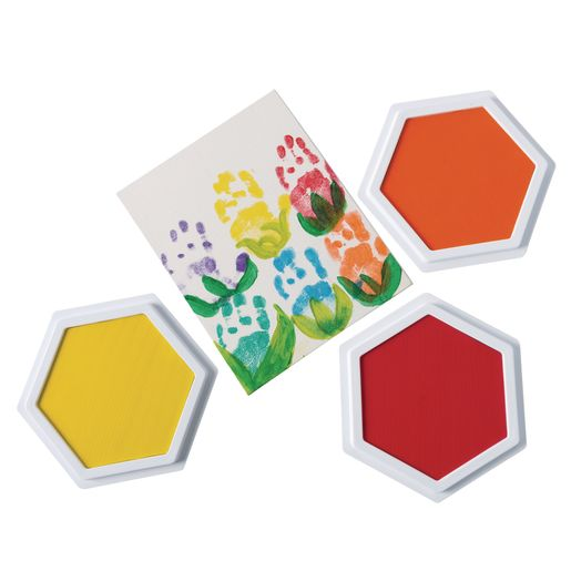 Colorations® Classic Colors Jumbo Washable Stamp Pads - Set of 6_3