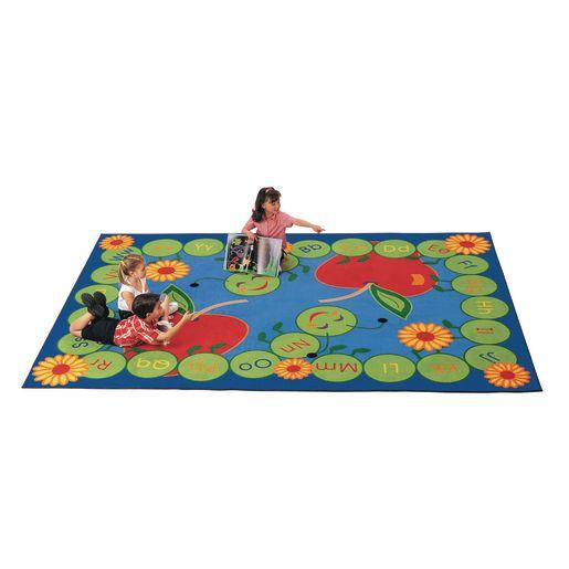 """""""ABC Caterpillar 45"""""""" x 510"""""""" Rectangle Premium Carpet"""""""