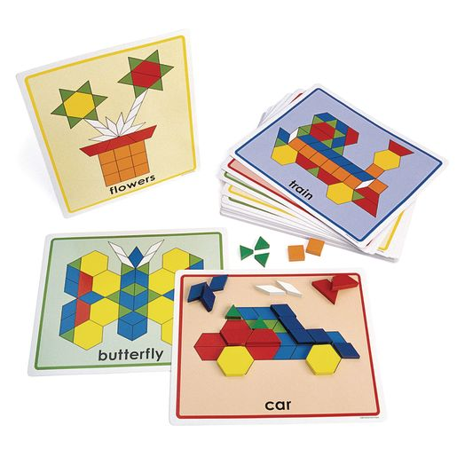 Excellerations® Pattern Block Picture Cards - Set of 20_0