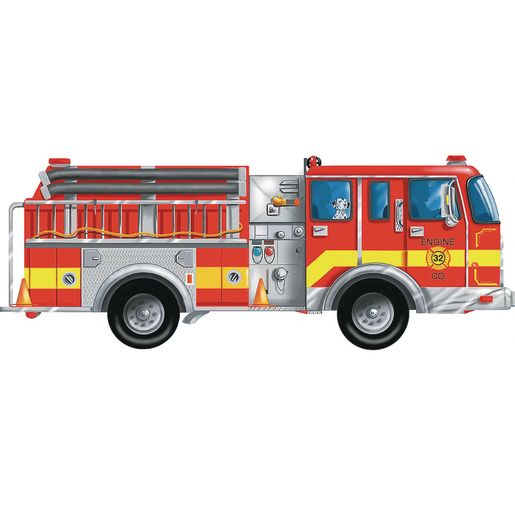 Image of Giant Fire Truck Floor Puzzle