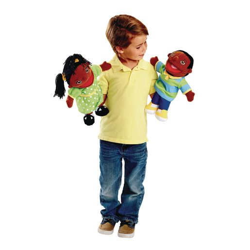 Excellerations® African American Girl & Boy Puppet Pair
