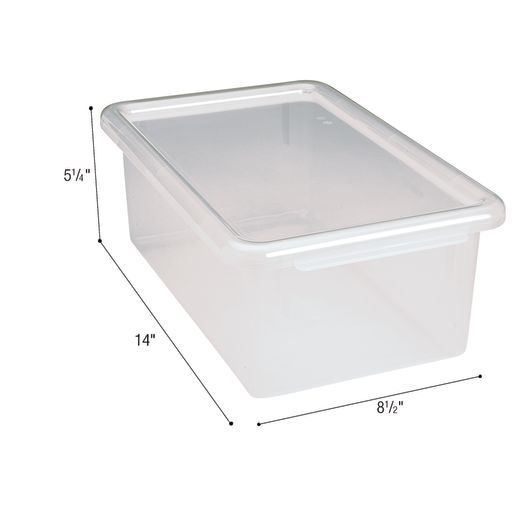 MyPerfectClassroom® Easy-Label Bin - Clear