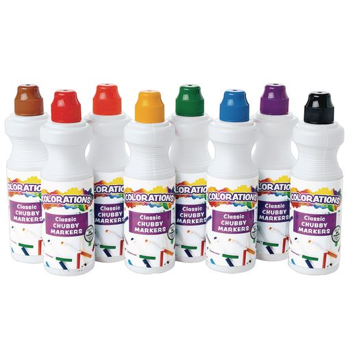 Image of Colorations Washable Chubbie Markers - Set of 8