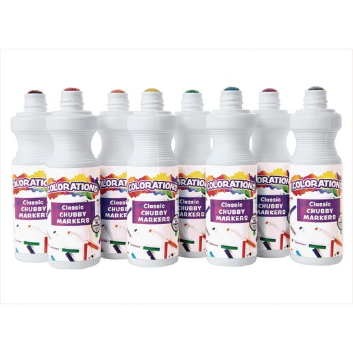Colorations® Washable Chubbie Markers - Set of 8