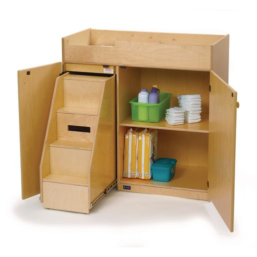 Changing Table with Slide Out Steps