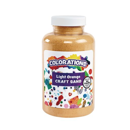 Image of Colorations Colorful Craft Sand, Light Orange - 22 oz.