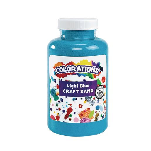 Colorations® Colorful Craft Sand, Light Blue - 22 oz.