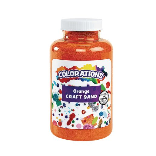 Image of Colorations Colorful Craft Sand, Dark Orange - 22 oz.