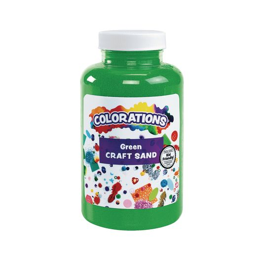 Image of Colorations Colorful Craft Sand, Green - 22 oz.