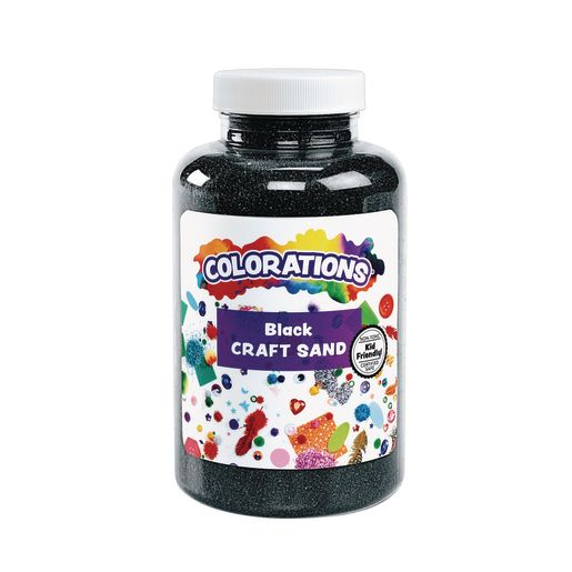 Image of Colorations Colorful Craft Sand, Black - 22 oz.