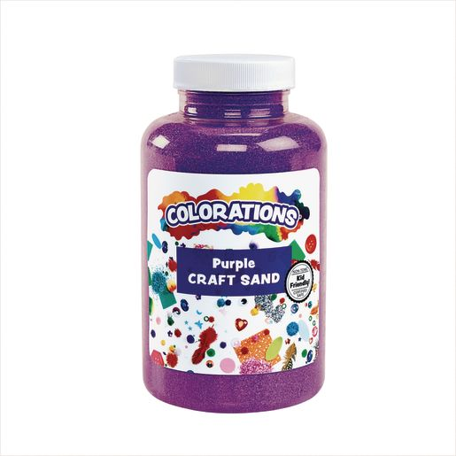 Image of Colorations Colorful Craft Sand, Purple - 22 oz.