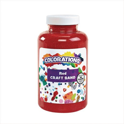 Image of Colorations Colorful Craft Sand, Red - 22 oz.