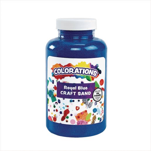 Image of Colorations Colorful Craft Sand, Royal Blue - 22 oz.