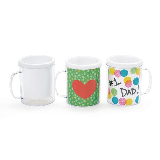 Colorations® Design Your Own Decorative Mugs - Set of 12