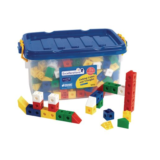 Excellerations® Linking Cubes and Triangles - 360 Pieces