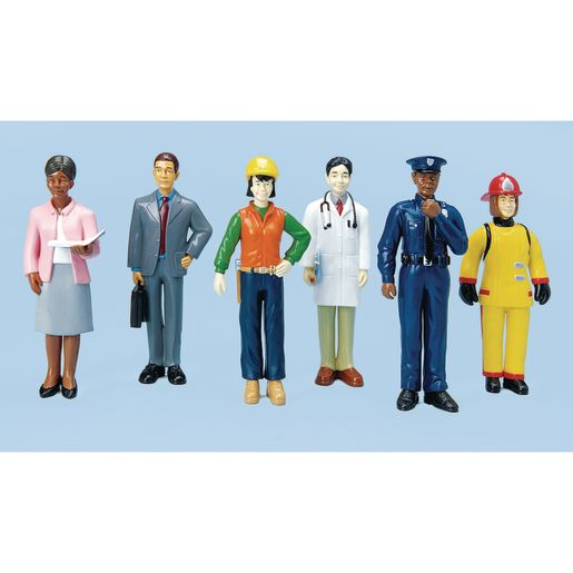 Image of Excellerations Pretend Play Career Figures - Set of 6