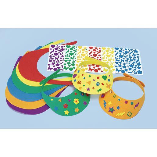 Image of Colorations Fun Foam Visors Craft Kit, Set of 12