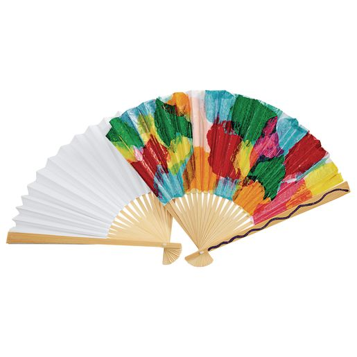 Colorations® Fantastic Blank Paper Fans - Set of 12
