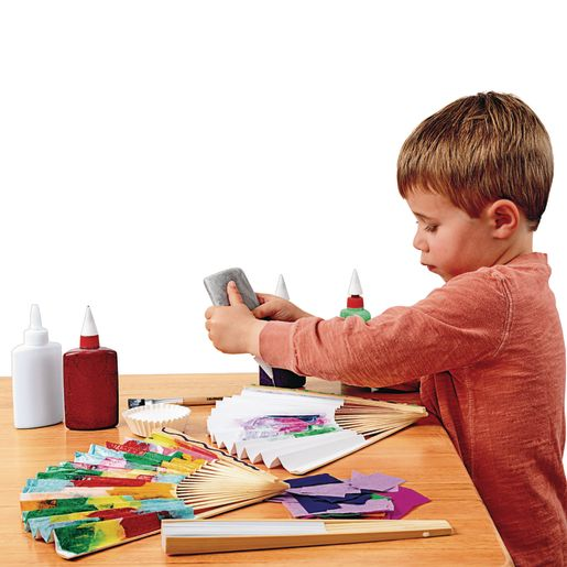 Colorations® Fantastic Blank Paper Fans - Set of 12