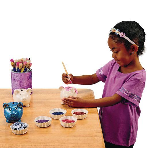 Colorations® Decorate A Piggy Bank - Set of 12