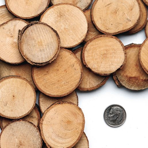 Colorations® Wood Craft Rounds, 50 Pieces