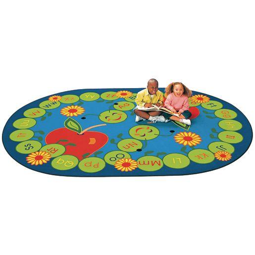 "ABC Caterpillar Carpet - 6'9"" x 9'5"" Oval"