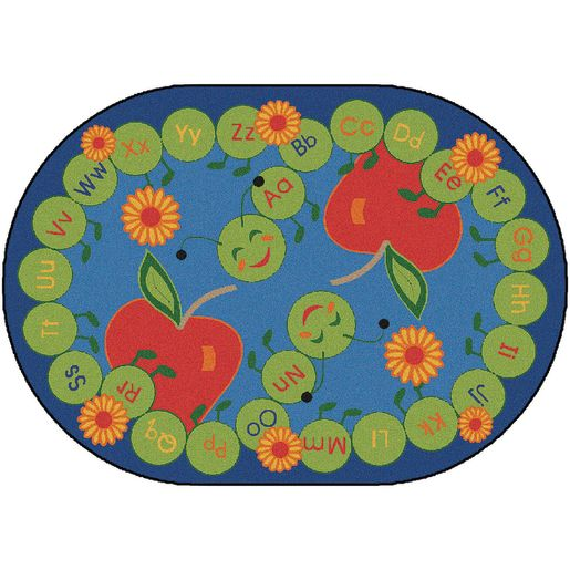 "ABC Caterpillar Carpet - 8'3"" x 11'8"" Oval"