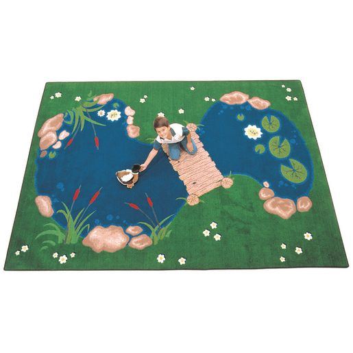"The Pond 4'5"" x 5'10"" Oval Premium Carpet"