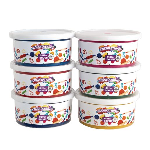 Colorations® Glitter Dough, 1 lb. each - 6 lbs.